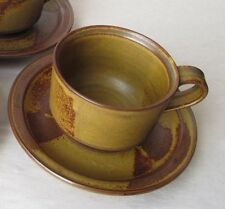 Iron Mountain Stoneware Roan 1 Cup & Saucer Set Excellent Vintage Cond Brown Mug