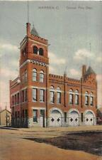WARREN OHIO CENTRAL FIRE DEPARTMENT POSTCARD 1909