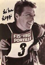 Autogramm Ludwig Luigi Leitner (2013†) Olympiasieger 1964 Skirennläufer #