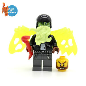 Genuine Lego Hidden Side Dwayne Minifigure hs025 + Spare Head Accessories 70421