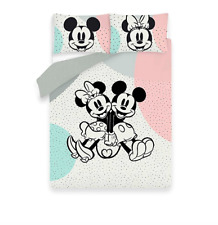 Disney MICKEY & MINNIE MOUSE Spotted Reversible SINGLE /DOUBLE /KING Duvet Set