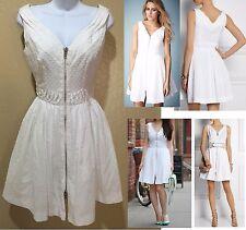 Kate Moss Topshop stunning zipper front dobby sundress sz 4 nwot