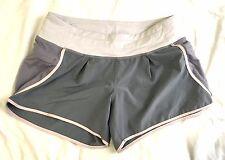 Lululemon Run In The Sun Short Blush Quartz Gray Pink Side Pockets Size 4 RARE