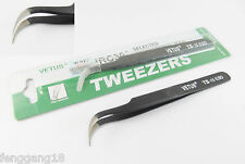 """532 Pattern Satin Stainless TWEEZERS 4 3//4/"""" cylinder holding curved rounded tips"""