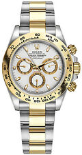 Rolex Cosmograph Daytona Steel and Gold Mens Watch Osyter White Dial 40mm 116503