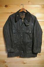"""Vintage Barbour Bedale 34"""" A105 Blue Wax Jacket Rare Two Crest"""