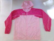 COLUMBIA Girls Spring Windbreaker Luxe Nylon PINK Hoodie Jacket Size 18/20 Youth