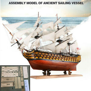 Victory DIY Wooden Sailing Boat Assembly Toys Model Ship Kits Home Office Decor