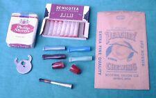 Vintage Lot Smoking Tobacco Cigarette Package Holder Filters Cigar Cutter +