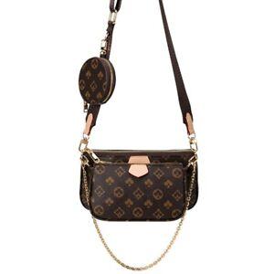 Fashion Luxury Leather Women Handbag (3 In 1) Crossbody Tote Shoulder Purse Bags