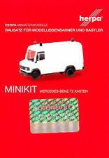 HERPA MiniKit 1:87 Transp. Mercedes-Benz T2 Kasten wei�Ÿ Bausatz #013482 NEU/OVP