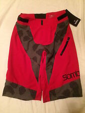 Sombrio Charger Shorts Mountain Bike Size Small Cycling Red *New with flaw*