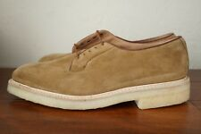 NEW WITH BOX | TRICKERS UK 12 12.5 13 ROBERT PLAIN TOE DERBY TAN KUDU SUEDE