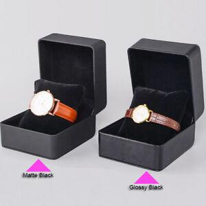 120x Travel Watch Case PU Leather Box Men Single Black Watch Presentation Boxes