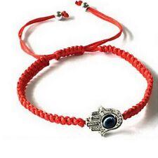 Good Luck Kabbalah BRACELET Hamsa Hand of GOD Evil Eye Adjustable Red String USA