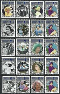 BRITISH COMMONWEALTH 1985 Life & Times Queen Mother Sets (5) MNH