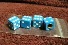 NOS BLUE DICE VALVE STEM CAPS AUTO TRUCK MOTORCYCLE HOT ROD ACCESSORY