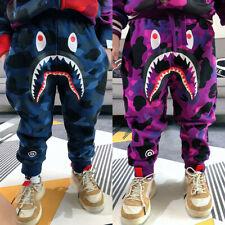2020 New Kids Boy Girl Bape Blue Purple Camo Shark WGM Long Pant Legging Pants