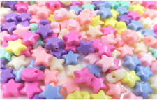 50g  Mix Solid Colors Round Beads Star Shaped Kids Jewellery Making DIY Craft
