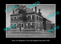 OLD POSTCARD SIZE PHOTO DOVER NEW HAMPSHIRE VIEW OF THE COUNTY JAIL c1910
