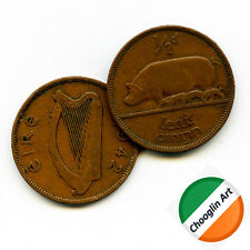 (x2) 1942 Irish Bronze HALFPENNY coins
