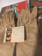 Antique Children's Leather Gloves Hand Embroidered Work with original box