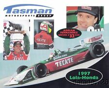 1997 Adrian Fernandez Tasman Motorsports Group Honda Lola T97/00 CART postcard