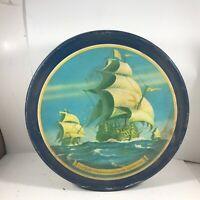 Vintage FFV Ships of JAMESTOWN VA Susan Constant Godspeed Discovery Cookie Tin