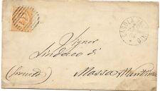 P7673   Ravenna, Casola Valsenio, annullo numerale a sbarre 1884