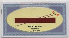 Optical Illusion The Elusive Line 1920s Trade Ad Card