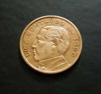1956 Mexico 10 Centavos Coin - Wonderful Key Date Coin - See PICS