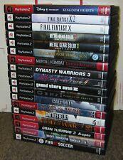 18 PlayStation 2 PS2 Games Grand Theft Auto Kingdom Hearts Final Fantasy I9