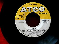 DEREK AND THE DOMINOS~LAYLA~LARGE PRINT~I AM YOURS~ATCO 6809~ ROCK  45