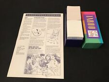Taboo Milton Bradley Board Game Replacement Parts Cards Instructions 1989