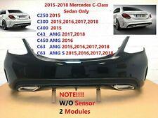 2015 2016 2017 2018 mercedes c-class sedan C250 C300 C400 rear bumper (black)#41