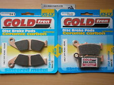 HONDA CR250 RS 1995 CR250R CR250 > SINTERED FRONT & REAR BRAKE PADS *GOLDFREN*