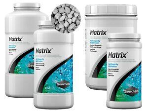 Seachem MATRIX 250ml 500ml 1000ml 2L Aquarium Fish Tank BIO FILTER MEDIA