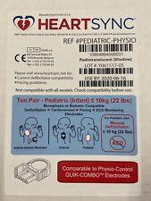 Box Of 10 Physio Control Heartsync Pediatric Lifepak Electrode Pads Quik Combo