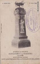 # ROMA: AUSPICE DELLA SOC. ALESSANDRO LA MARMORA 18 - giu 1903 - 67° ANNIV. ...