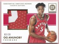 OG ANUNOBY RC 2017-18 PANINI ENCASED SUBSTANTIAL SWATCHES ROOKIE PATCH #02/10