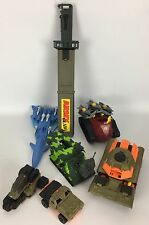 Lot of 7 Toy Galoob Xpanders & G.I. Joe Tank-Gun-Missle-Army Machete-ATV-Vehicle