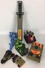 Lot of 7 Toy Galoob Xpanders & G.I. Joe Tank-Gun-Missle-Army Machete-ATV-Vehicle