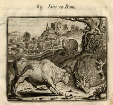 Antique Emblem Print-BULL-RAM-Vondel-Geraerts-1720