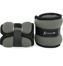 ProsourceFit Ankle Wrist & Arm / Leg Weights - Set of 2 Grey - Adjustable Strap