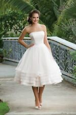 Sweetheart 6131 Tulle Short Ball Gown Strapless Sand Ivory US Size 12