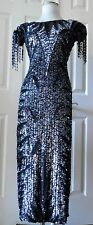 Cute Amazing Formal Long Dress Embellished Beaded/Sequins Black Details Size S