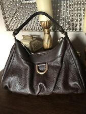 Gucci Guccissima D-Ring Hobo Brown Leather 234908