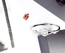 Silver Tone Diamante Link Crystal CZ Bracelet Bangle Fashion Design Ladies Wear