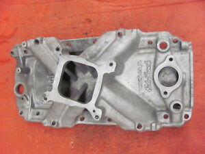 Edelbrock Victor 2-R JR Aluminum Intake Manifold 2910 Air Gap BB Chevy READ