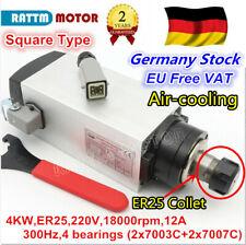 〖In DE〗4KW Frässpindelmotor Air Cooled Spindle Motor CNC Engraving ER25 18000rpm